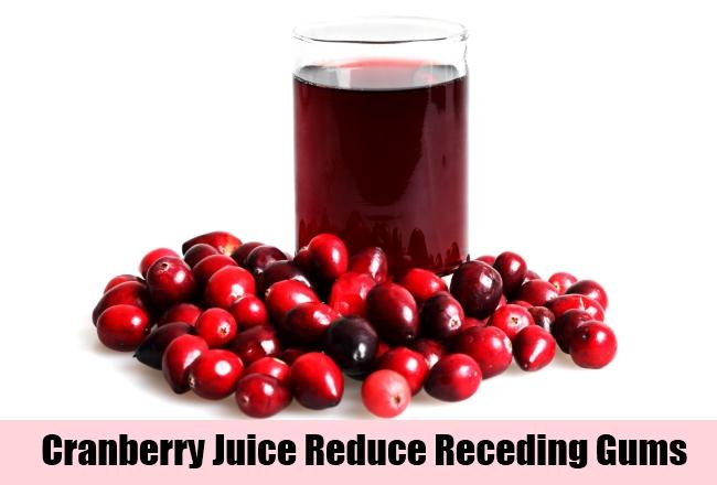 Cranberry Juice Reduce Receding Gums