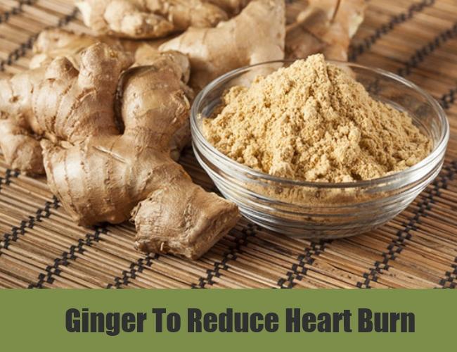 Ginger To Reduce Heart Burn