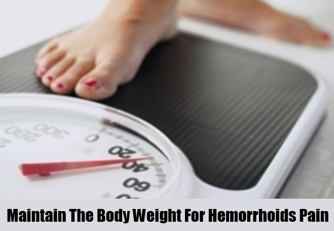 Maintain The Body Weight For Hemorrhoids Pain