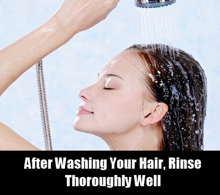 Rinse Your Hair Well