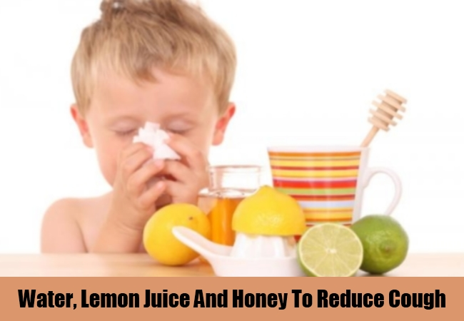 Water, Lemon Juice And Honey To Reduce Cough