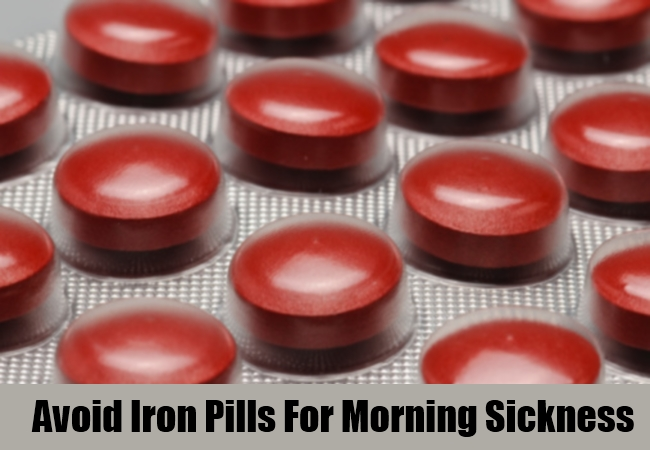 Avoid Iron Pills For Morning Sickness