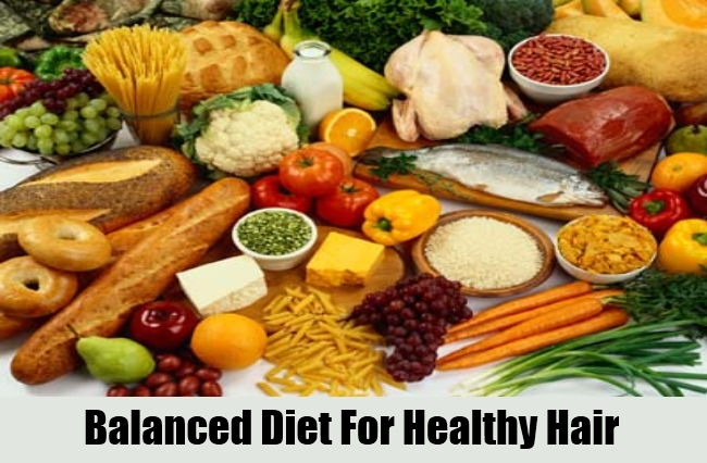 Balanced Diet For Healthy Hair