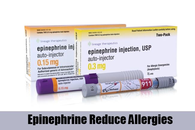 Epinephrine Reduce Allergies