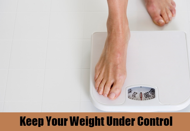 Keep Your Weight Under Control