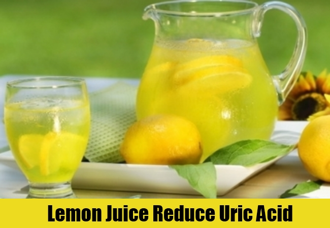 Lemon Juice Reduce Uric Acid