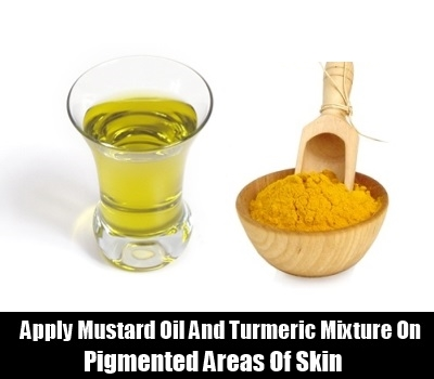 Mustard Oil And Turmeric