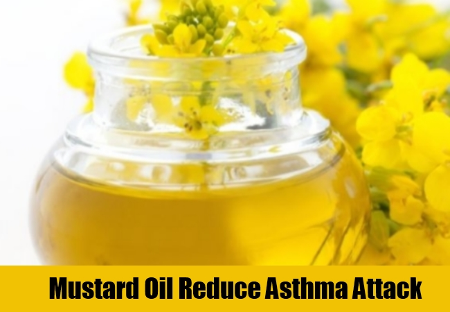 Mustard Oil Reduce Asthma Attack