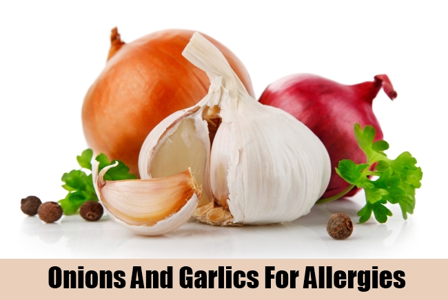 Onions And Garlics For Allergies