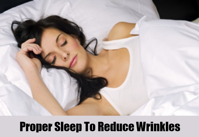 Proper Sleep To Reduce Wrinkles