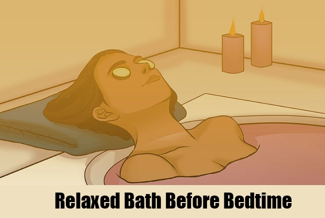 Relaxed Bath Before Bedtime