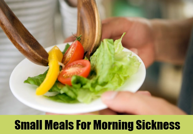 Small Meals For Morning Sickness