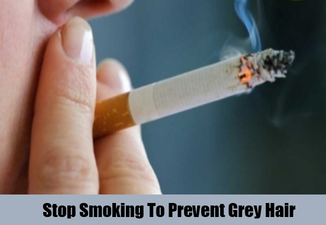 Stop Smoking To Prevent Grey Hair