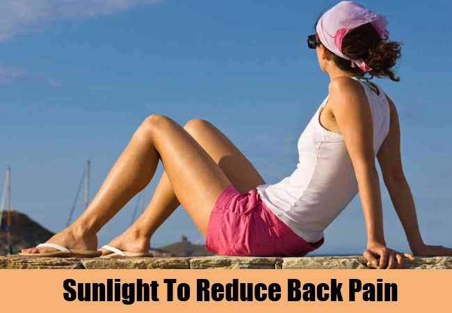 Sunlight To Reduce Back Pain