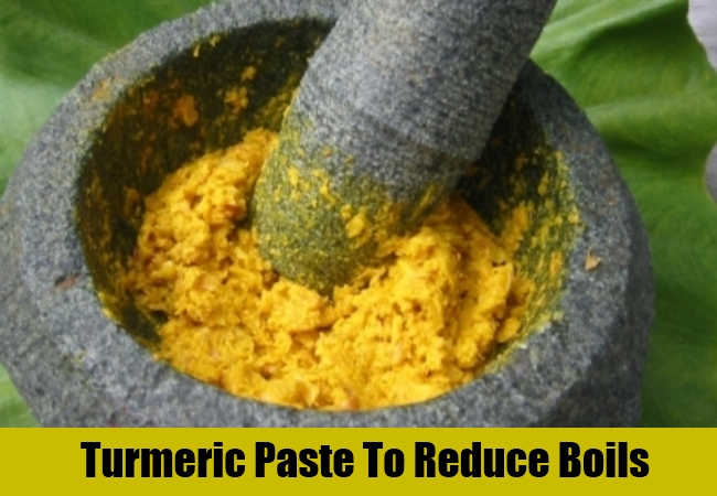 Turmeric Paste To Reduce Boils