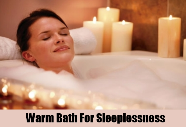 Warm Bath For Sleeplessness