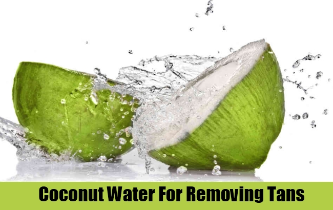 Coconut Water For Removing Tans