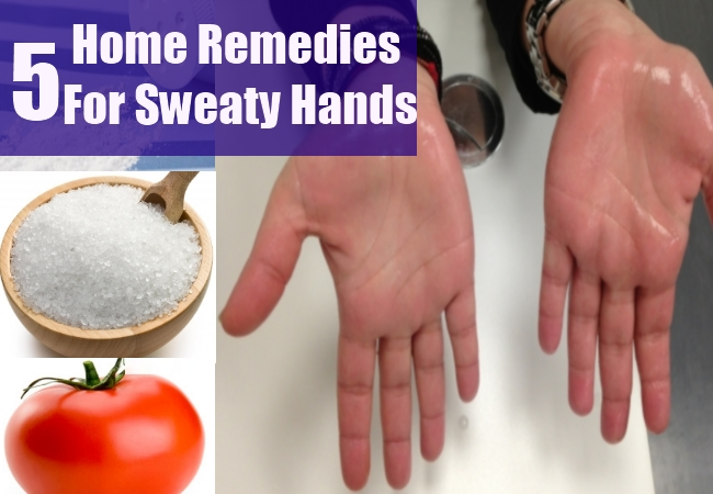 how to stop sweaty hands naturally