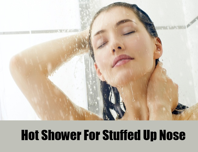 Hot Shower For Stuffed Up Nose