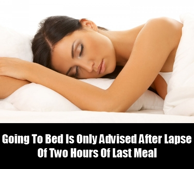 No Lying Down After Meals