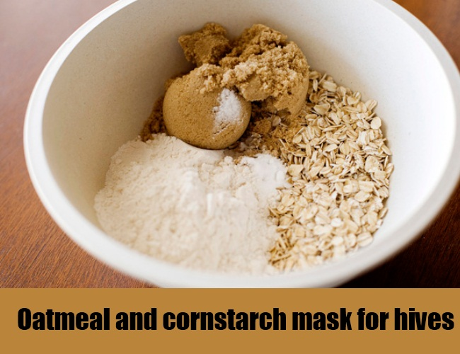 Oatmeal And Cornstarch Mask For Hives