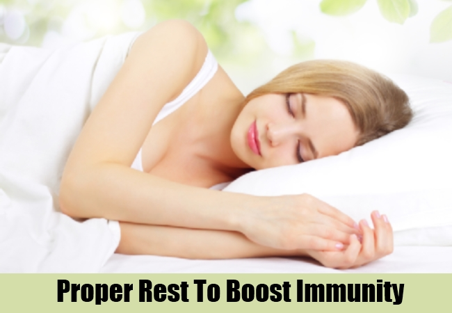 Proper Rest To Boost Immunity