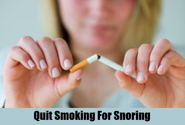Quit Smoking For Snoring