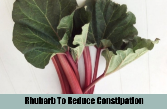 Rhubarb To Reduce Constipation