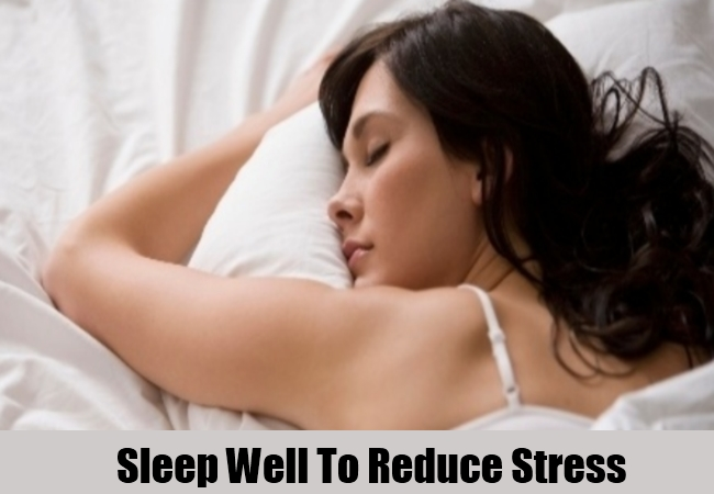 Sleep Well To Reduce Stress