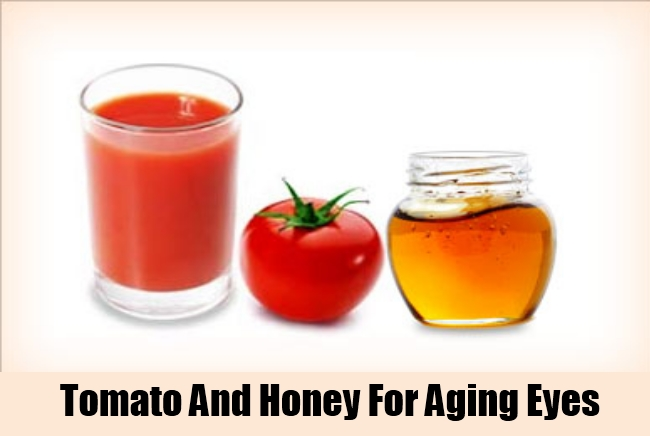Tomato And Honey For Aging Eyes