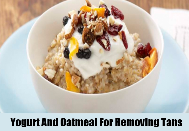 Yogurt And Oatmeal For Removing Tans