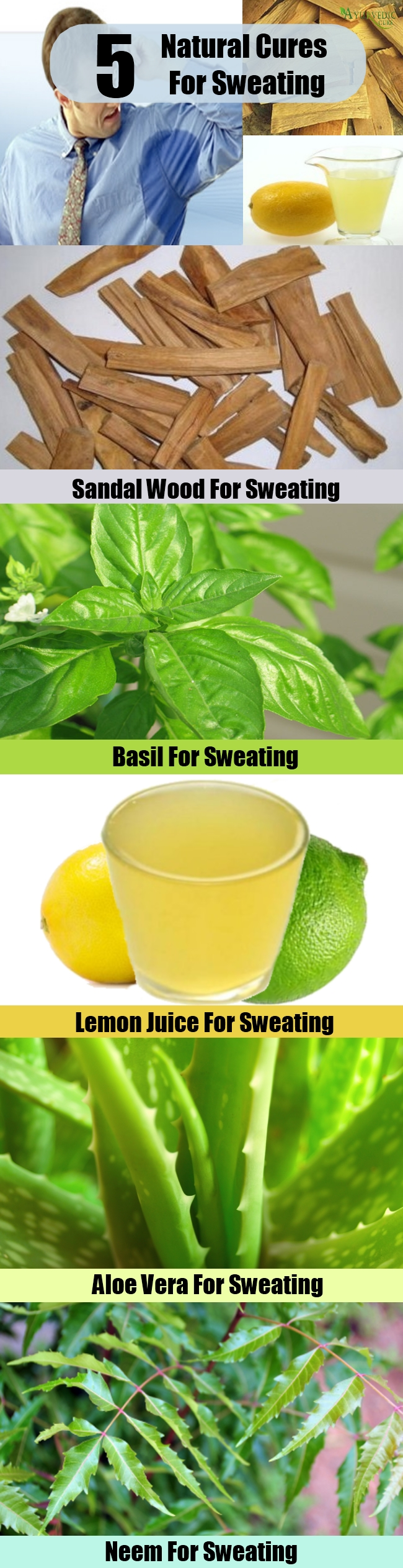 Easy Natural Cures For Sweating