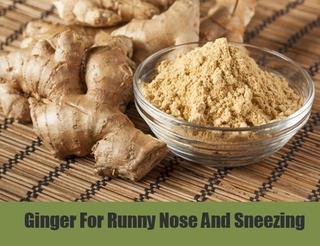 Ginger For Runny Nose And Sneezing