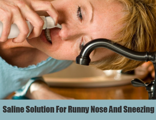 Saline Solution For Runny Nose And Sneezing