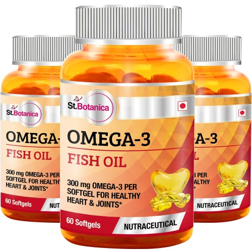 St botanica omega 3 fish oil 60 softgels natural for Fish oil pills for weight loss