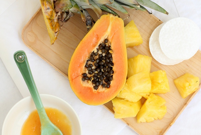 Papaya And Pineapple Facial Peel