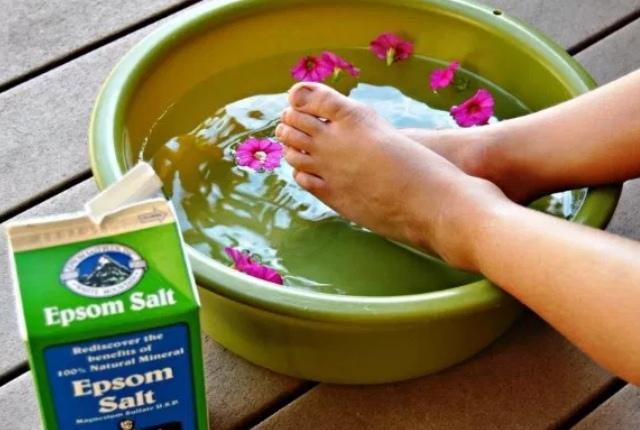 Soak Hands Or Feet In Epsom Salt