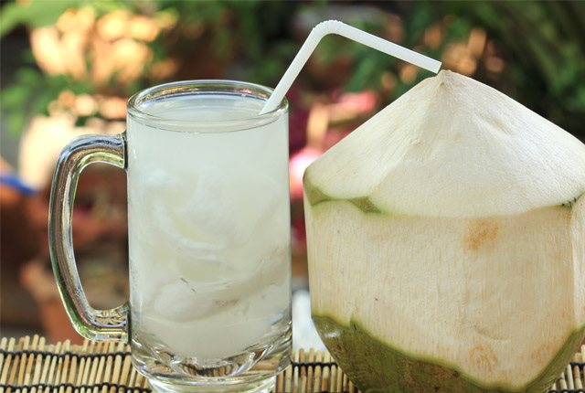 Drink Coconut Water Or Salt Mixed In Water