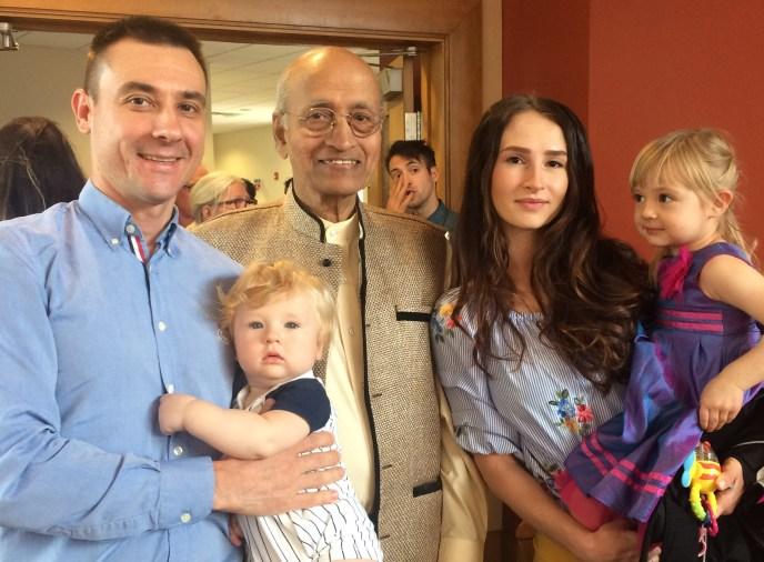 Sergey with Dr. Vasant Lad