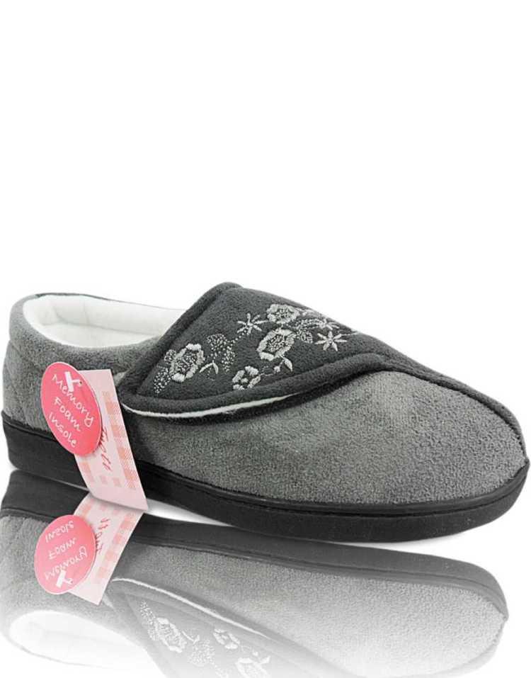Ladies Memory Foam Shoes | Womens Ladies Memory Foam Orthapedic Wide Easy Close Slippers Shoes