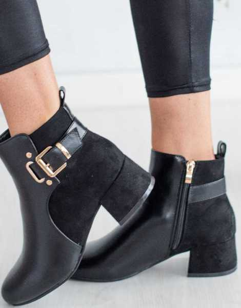 New Design Low Heel Chelsea ANKLE  PATENT BOOTS
