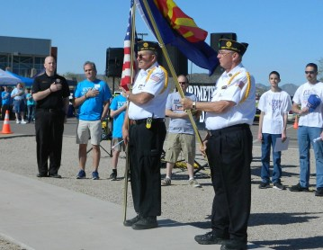 Veteran color guard and Joe Trasser