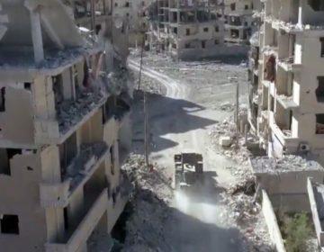 İŞİD-dən azad edilmiş Rakkanın görüntüləri