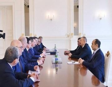 Prezident İlham Əliyev Rusiyanın Həştərxan vilayətinin qubernatorunu qəbul edib