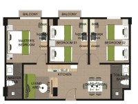 3-bedroom-floor-plan - Azalea Boracay