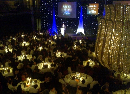 his year's event, held at the Grosvenor Hotel in London's Mayfair, was hosted by comedian Kevin Bridges