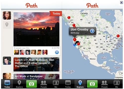 Path.com has launched as an alternative to other social networking sites such as Twitter and Facebook