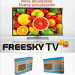ATUALIZAÇÃO FREESKY TV V.4.02 CORREÇÃO NOS CANAIS - 29/11/2016 - PORTAL AZAMERICA