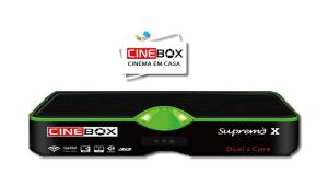 Download nova atualização do receptor cinebox Supremo x - 30 julho 2017