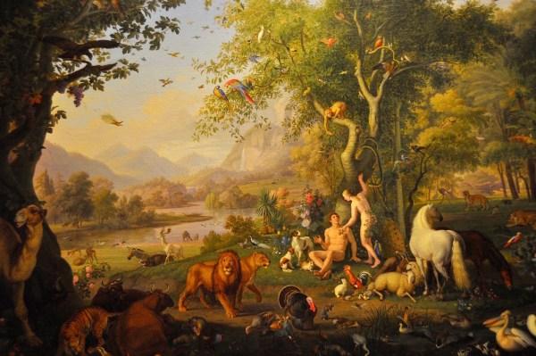 Adam and Eve in the Garden of Eden by Wenzel Peter, Vatican Museum
